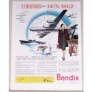 1944 Bendix Aviation Wartime Color Print Ad PATHFINDER FOR ROVING WORLD