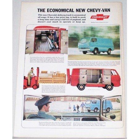 1964 Chevrolet Economical Delivery Van Color Print Ad