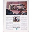 1964 Chevrolet Greenbrier Sports Wagon Color Print Ad