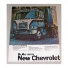 1970 Chevrolet Chevy Trucks Titan 90 Semi 2 Page Color Print Ad