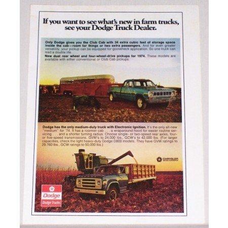 1974 Dodge Club Truck and Medium Duty Truck Color Print Ad