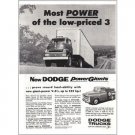 1957 Dodge Power Giants Truck Vintage Print Ad - Most Power