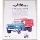 1971 Dodge D-500 Soybean Special Truck Color Print Ad