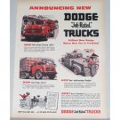 1953 Dodge Job Rated Trucks Color Print Ad
