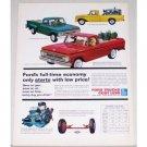 1962 Ford Pickup Trucks Color Print Ad - F100 F250 F350