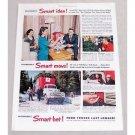 1949 Ford Bonus Built Trucks Color Print Ad - Smart Bet!