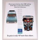 1965 GMC Pickup Truck Color Print Ad - From Top To Bottom