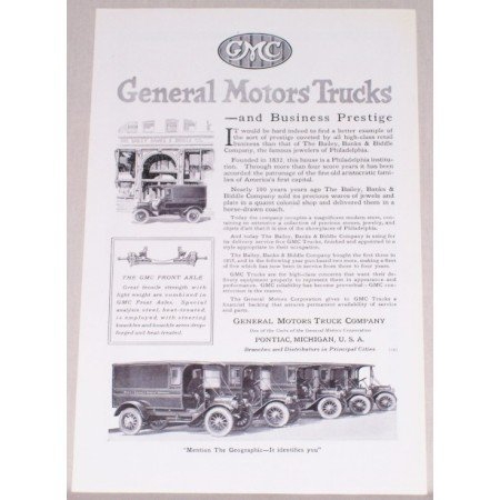 1919 GMC General Motors Trucks Vintage Print Ad - Business Prestige