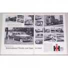 1957 International Trucks 2 Page Vintage Print Ad - 16 Models