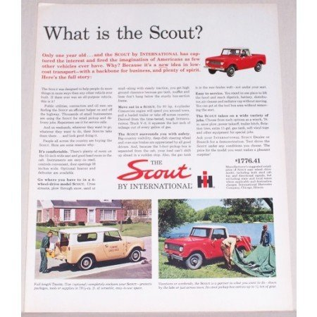 1962 International Scout Color Print Ad - What Is The Scout