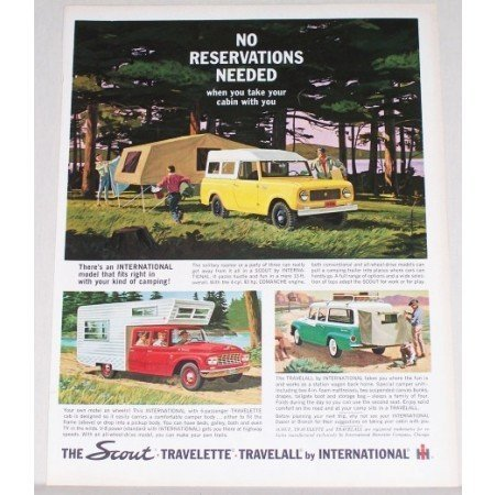 1962 International Scout Travelette Travelall Truck Color Print Ad