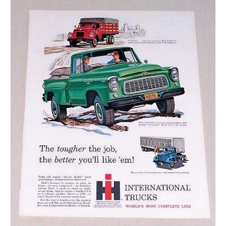 1960 International B120 All Wheel Drive Truck Color Print Art Ad