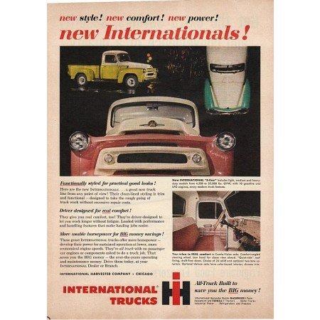 1955 International S-Line Trucks Color Print Ad