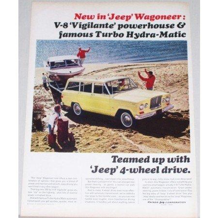 1965 Kaiser Jeep Wagoneer 4 Wheel Drive Color Print Ad