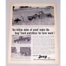 1956 Jeep 4 Wheel Drive Truck Vintage Print Ad - Matchless Farm Work
