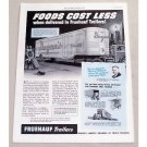 1949 Fruehauf Truck Trailers Ad - Foods Cost Less