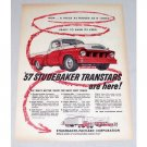 1956 Color Print Ad 1957 Studebaker Transtar Deluxe Truck