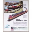 1944 GM Locomotive Boston And Maine 4204 Color Railroad Train Color Print Ad