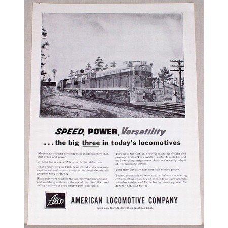 1954 American Locomotive Co. Georgia 137 Train Vintage Print Ad