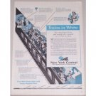 1944 New York Central Railroad Vintage Print Ad - Trains In White