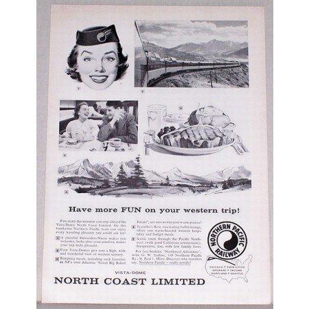 1957 Northern Pacific Railway Vintage Print Ad - Have More Fun