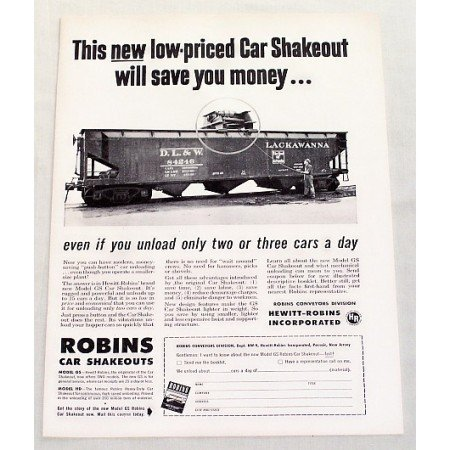 1949 Hewitt Robins Model GS Car Shakeout Train Vintage Print Ad