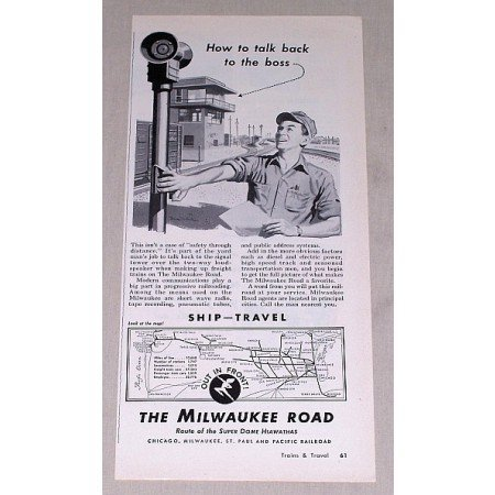 1953 Milwaukee Road Railroad Vintage Print Ad - How To Talk Back
