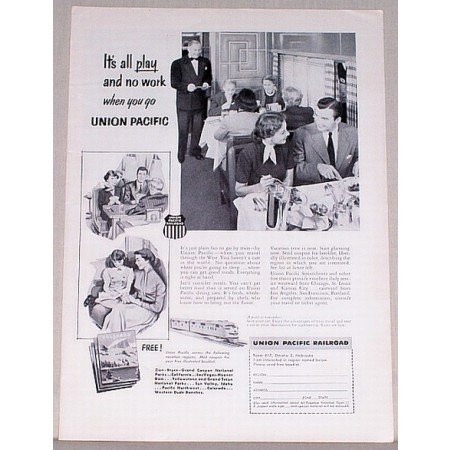 1953 Union Pacific Railroad Train Vintage Print Ad - It's All Play