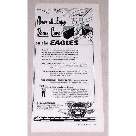 1953 Missouri Pacific Lines Vintage Print Ad - On The Eagles