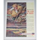 1944 Pennsylvania Railroad Color Print Art Ad - Land Of Plenty