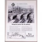 1954 Erie Railroad Vintage Print Ad - Progress Poses For It's Picture