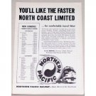 1953 Northern Pacific Railway Train Vintage Print Ad - North Coast