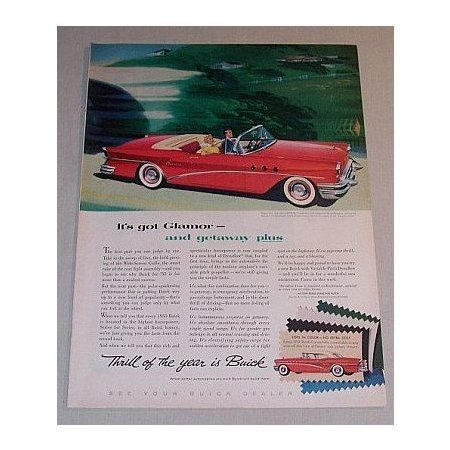 1955 Buick Special Convertible Color Print Automobile Car Ad