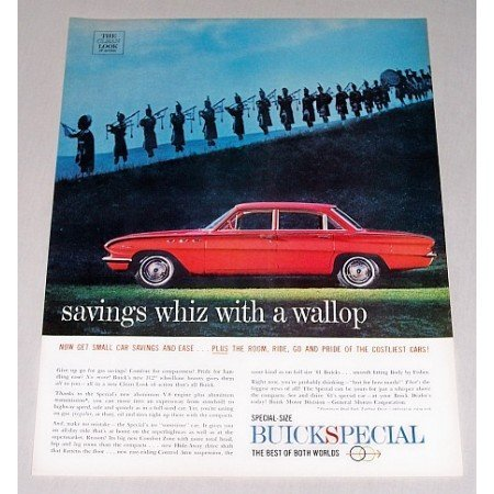 1961 Buick Special 4 Door Automobile Color Print Car Ad