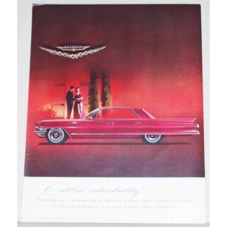 1962 Cadillac Sedan De Ville Automobile Color Print Car Ad