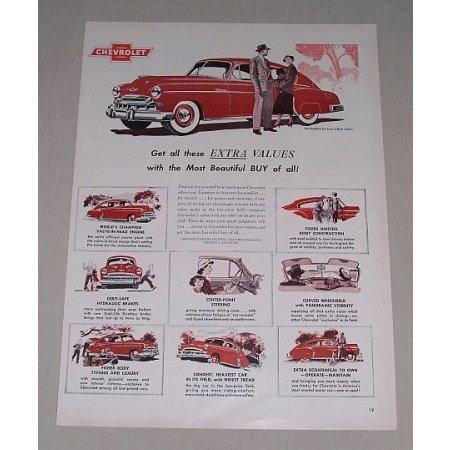 1949 Chevrolet Fleetline Deluxe Sedan Automobile Color Print Car Ad