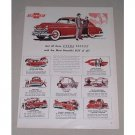 1949 Chevrolet Fleetline Deluxe Sedan Automobile Color Print Car Ad