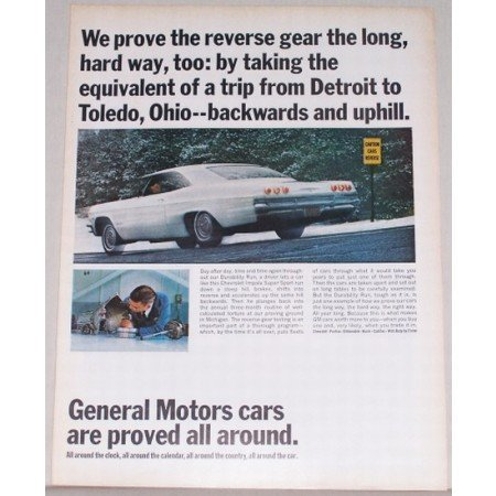 1965 General Motors Chevy Impala SS Automobile Color Print Car Ad