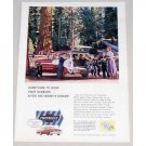 1956 Chevrolet 9 Passenger Station Wagon Automobile Color Print Car Ad