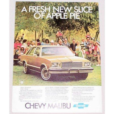1978 Chevy Malibu Automobile Color Print Car Ad - Fresh Slice