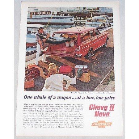 1962 Chevy II Nova 400 Station Wagon Automobile Color Print Car Ad