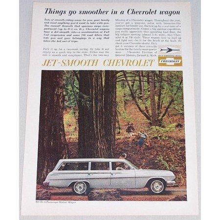 1962 Chevrolet Bel Air 6 Passenger Station Wagon Automobile Color Print Car Ad
