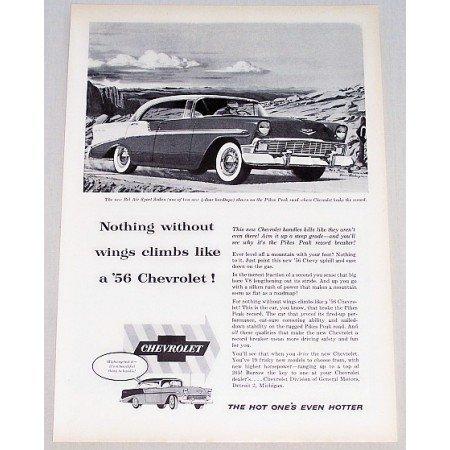 1956 Chevrolet Bel Air Sport Sedan Automobile Vintage Print Car Ad