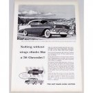 1956 Chevrolet Bel Air Sport Sedan Automobile Vintage Print Car Ad