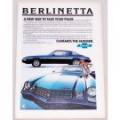 1979 Chevrolet Camaro Berlinetta Automobile Color Print Car Ad