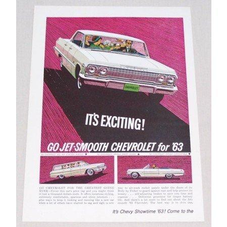1963 Chevrolet Impala Sport Sedan Automobile Color Print Car Ad