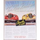 1938 Chrysler Imperial and Royal Automobile Color Print Car Ad