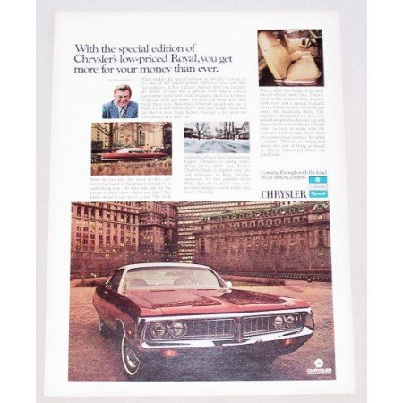 1972 Chrysler Royal Special Edition Automobile Color Print Car Ad
