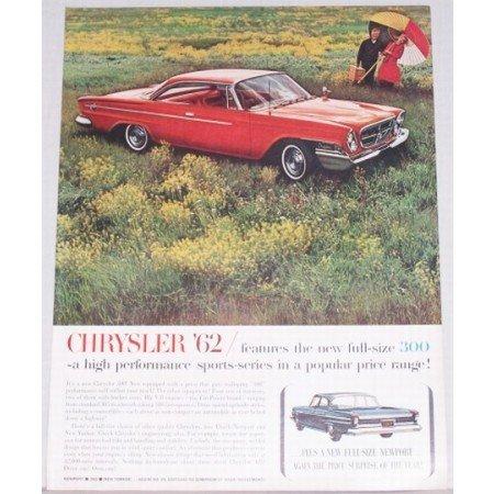 1962 Chrysler 300 2 Door Automobile Color Print Car Ad