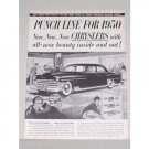 1950 Chrysler New Yorker Sedan Automobile Vintage Print Car Ad - Punch Line
